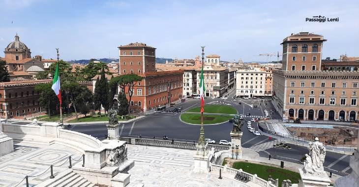 Il Vittoriano, vista su Piazza Venezia
