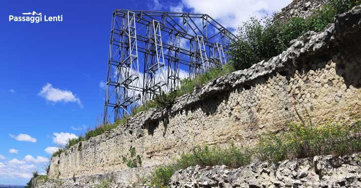 I resti del basamento del Santuario a Tivoli