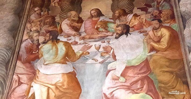 """Oratorio del Gonfalone a Roma, """"L'ultima cena"""" di Livio Agresti"""