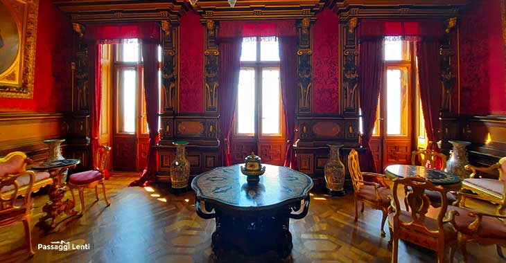 L'interno del Castello di Miramare